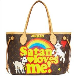 Louis Vuitton Satan Loves Me Neverfull Pm Rare Bag